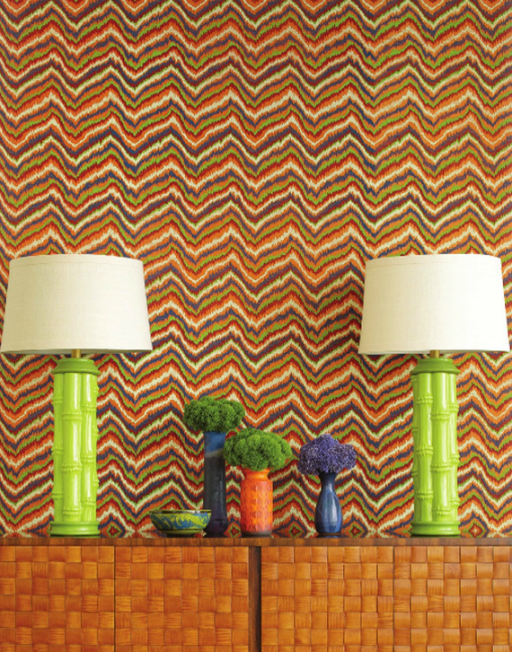 Celerie Kemble Flame Wallpaper for Schumacher