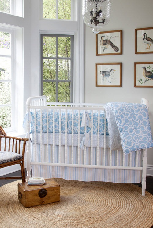 Soft Boy Baby Crib Bedding In Blue