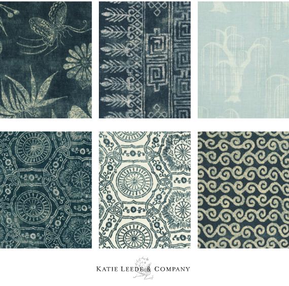 Katie Leede Blue Indio Fabrics