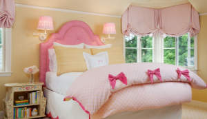 Pink and Yellow Girls Designer Bedroom