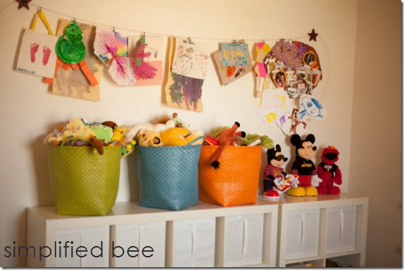 Playroom Storage by Simplified Bee