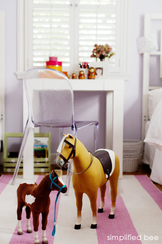 American Girl Doll Horses Girls Bedroom by Simplified Bee
