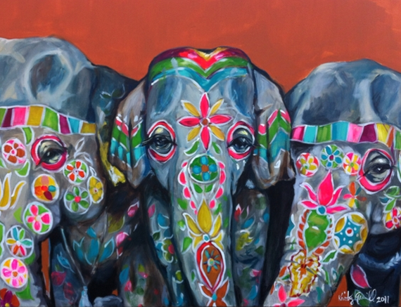 Elephants by Artist Kristy Gammill