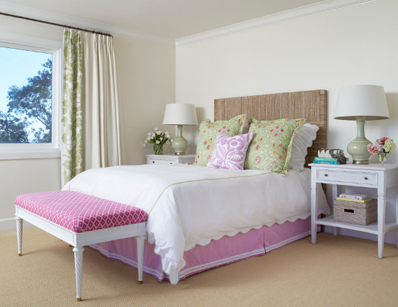 Pink and White Designer Bedroom