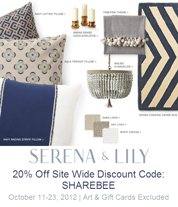 Serena and Lily Friends & Family Discount Code 2012