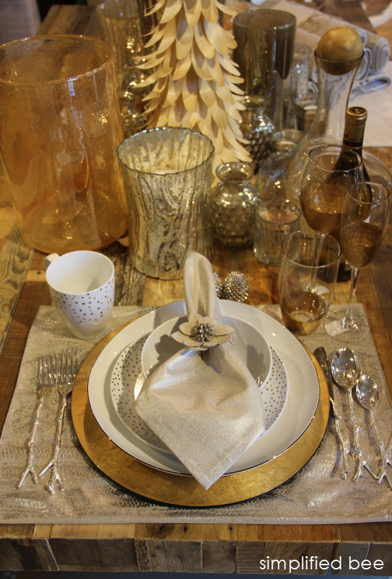 Silver and Gold Holiday Tabletop by West Elm
