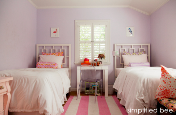 Shared Girls Bedroom by Simplified Bee