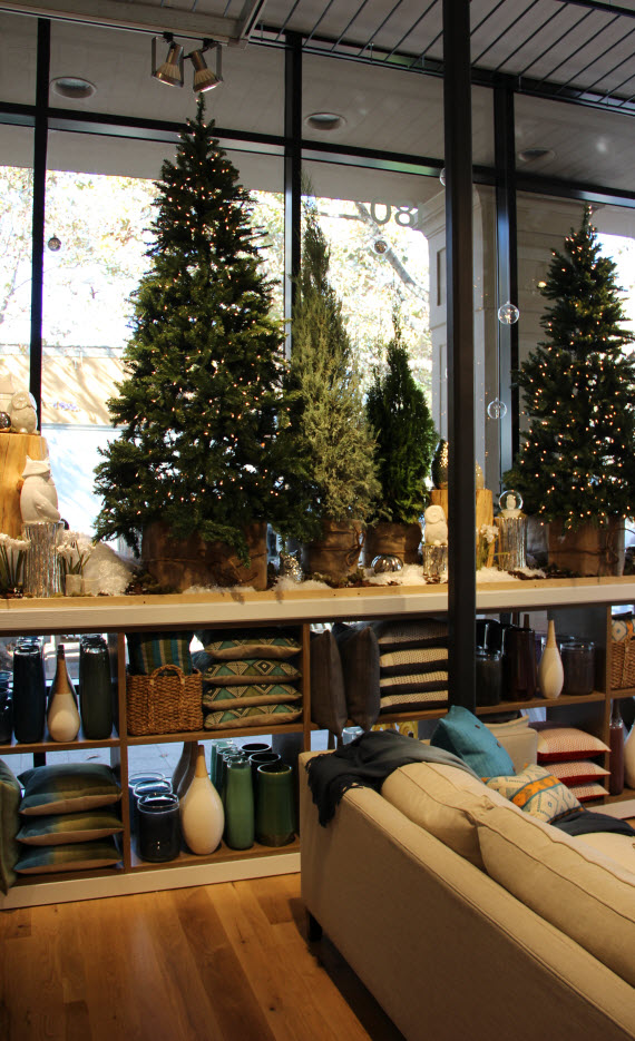 West Elm Palo Alto Holiday Display