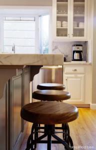 cararra marble kitchen island