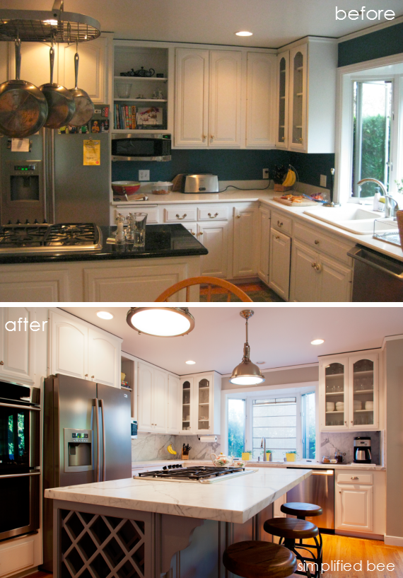 Kitchen Design Update with Carrara Marble Countertops