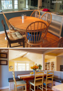 kitchen nook before and after design