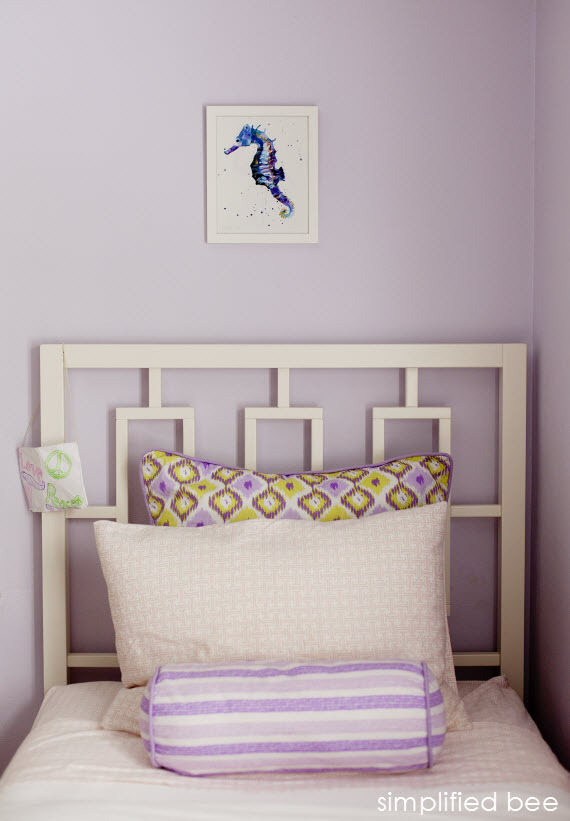 purple and green girls bedroom design 