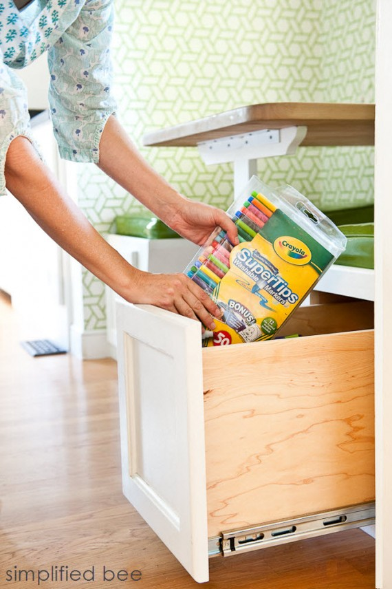 Bench Seating Pull-out Drawer Storage