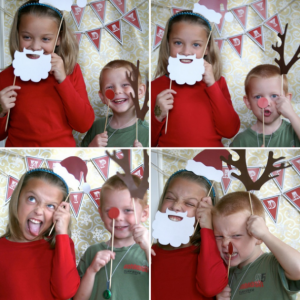 Christmas photo booth props