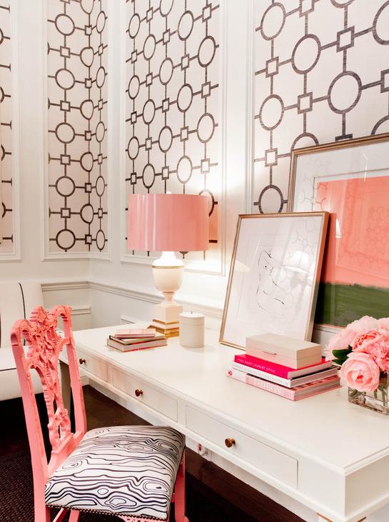 Tobi Fairley Design BlackWhitePink RoomSimplified Bee