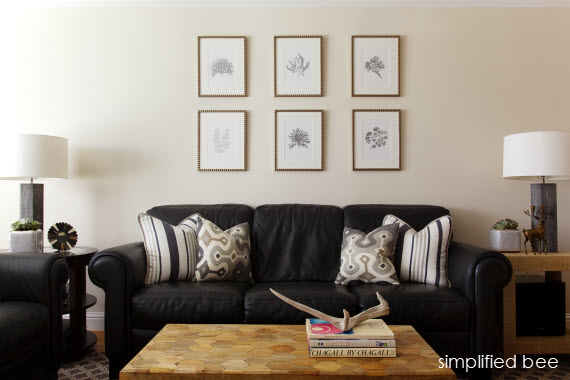 black and grey living room by simplified bee Simplified Bee