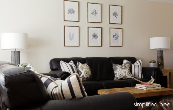 black, white and gray living room by simplified bee