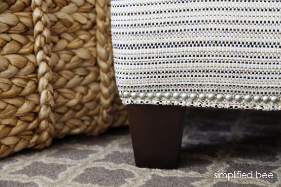 black white chair detail - simplified bee