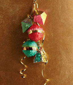 gold confetti system ornaments