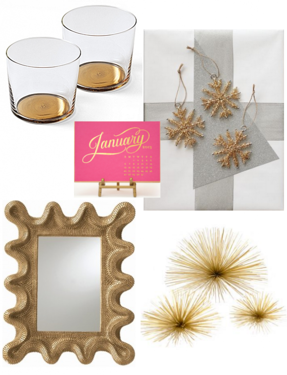 gold holiday decorating ideas