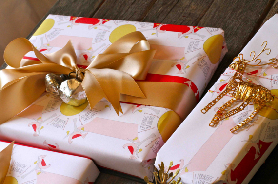 holiday gift wrap embellishments