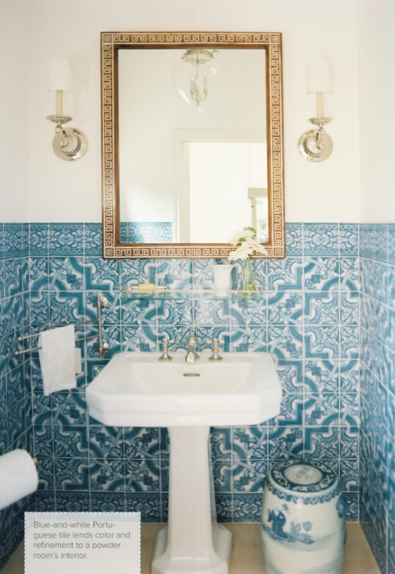 mark sikes blue white bathroom