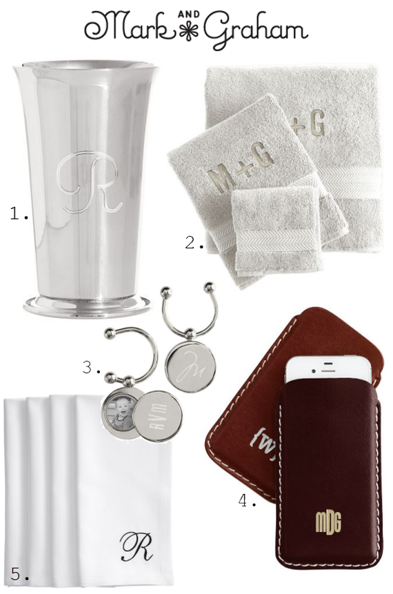 monogrammed gifts from mark &amp; graham