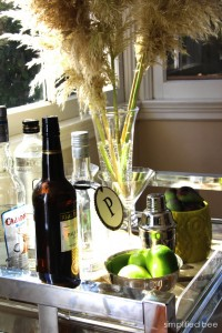 thanksgiving holiday bar cart simplified bee