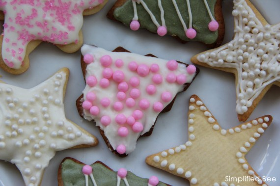 Pink Holiday Sugar Cookies