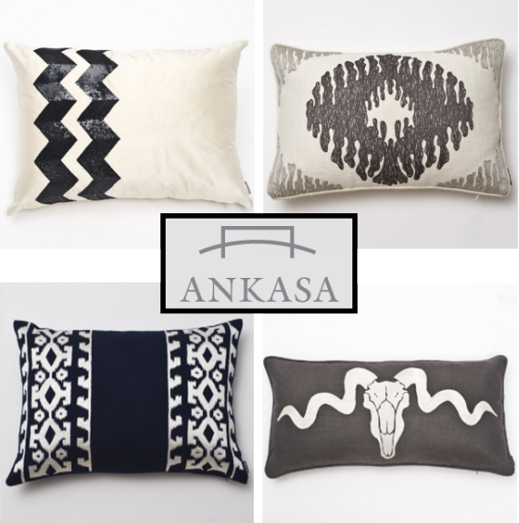 chic black+white pillows by ankasa