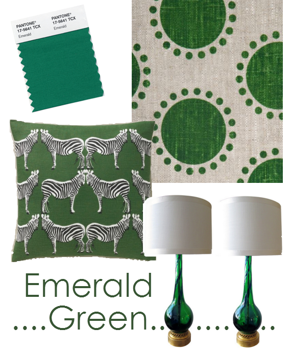 emerald green color of the year