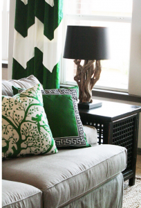 emerald green home decor pillows