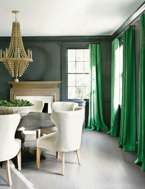 Emerald Green Drapery