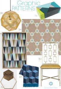2013 Interior Design Trend Graphic Patterns