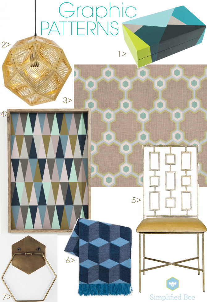 2013 Interior Design Trend Graphic Patterns