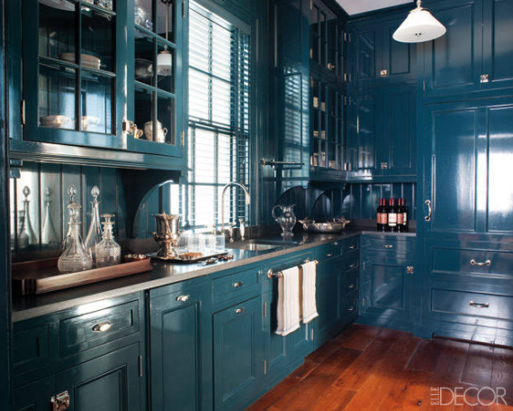 Farrow and Ball Hague Blue cabinets