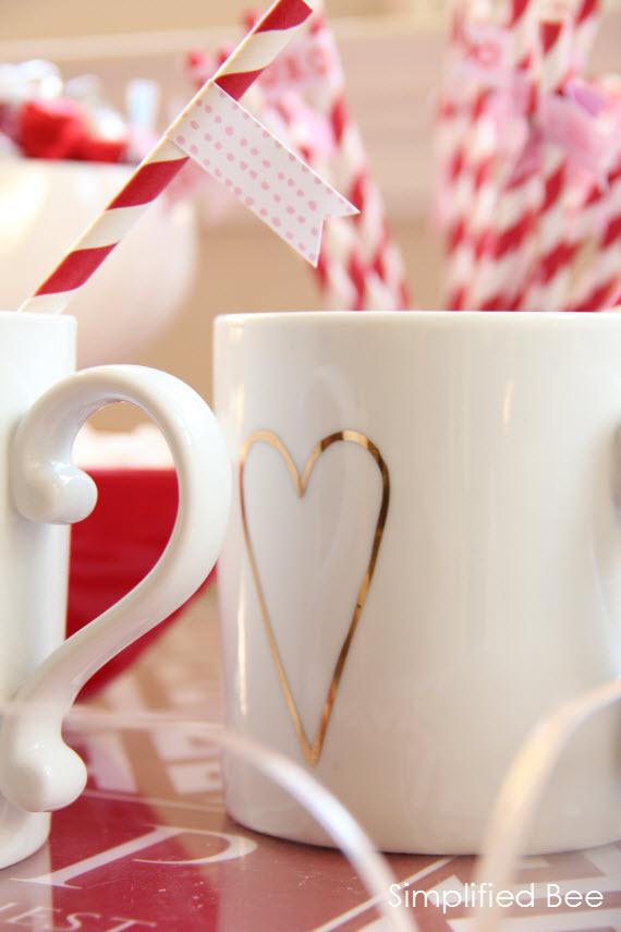 Heart Valentine's Day Mug #valentines