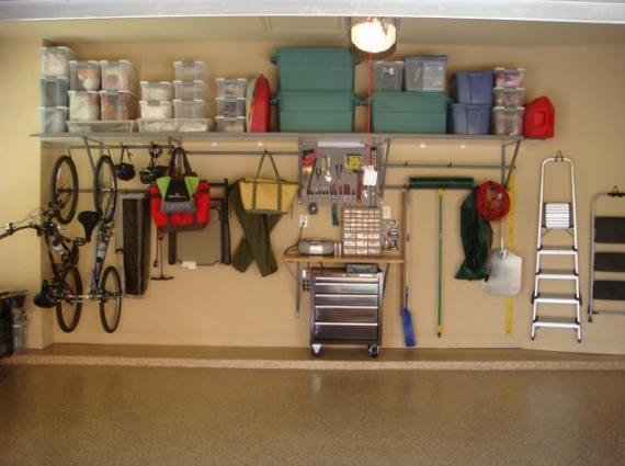 Monkey Bars Garage Organizing System