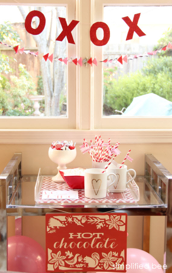 Valentine's Day Hot Cocoa Bar