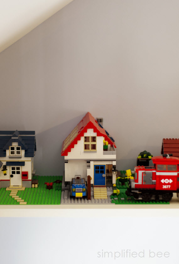 boy's bedroom lego shelf