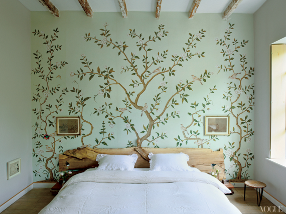 De Gournay Wallpaper In Bedroom
