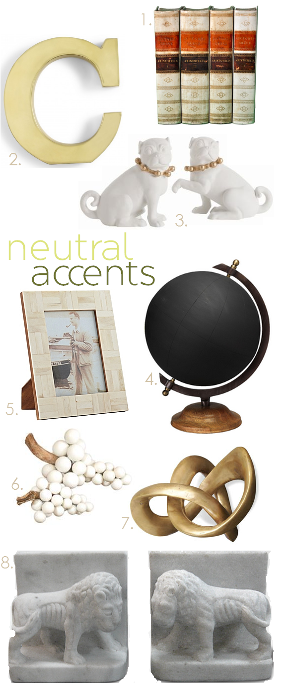 decorating with neutral home accessories