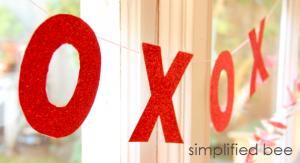 Valentines XOXO garland