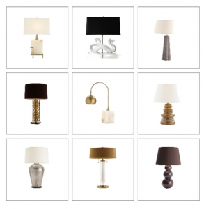 chic table lamp round-up