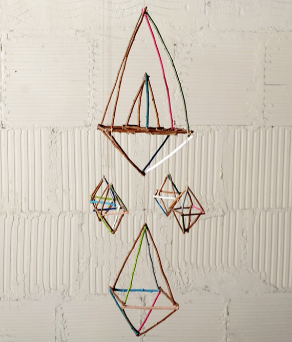 geometric mobile for nursery