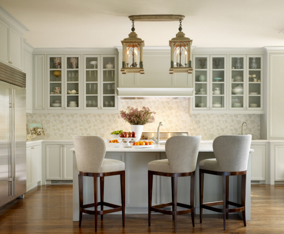 gourmet kitchen design by Jay Jeffers