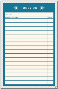 honey do note pad list