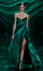 malachite dress monique lhuillier
