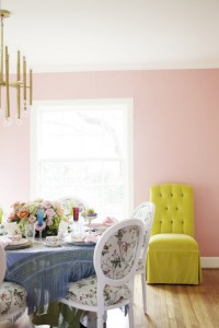 pink dining room via matchbook-magazine
