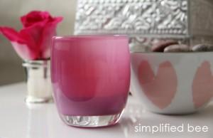 pink glassybaby votive